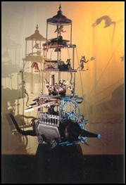 Eduard Bersudsky's mechanical sculptures will provide the striking backdrop for a series of live music concerts held in the Sharmanka gallery.
